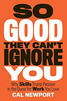 So Good They Can't Ignore You book cover